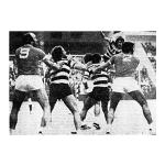 1975 – 3ª Taça de Portugal para o Andebol, com Carlos Silva e João Manuel em foco