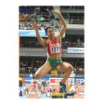 O 1º título europeu para Naide Gomes no salto em comprimento